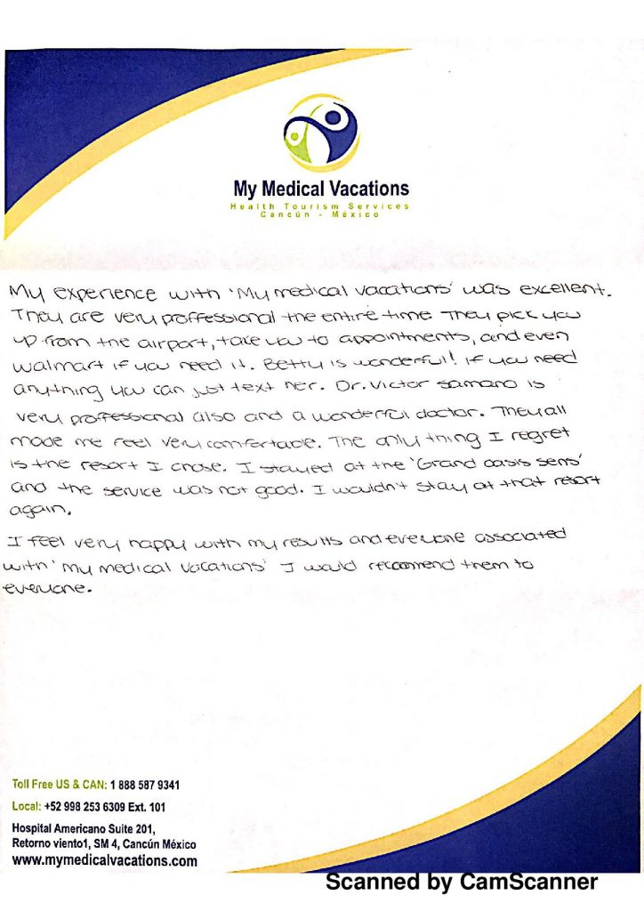 BRAZILIAN BUTTOCK AUGMENTATION HANDWRITTEN TESTIMONIALS FROM SASKATCHEWAN, CANADA