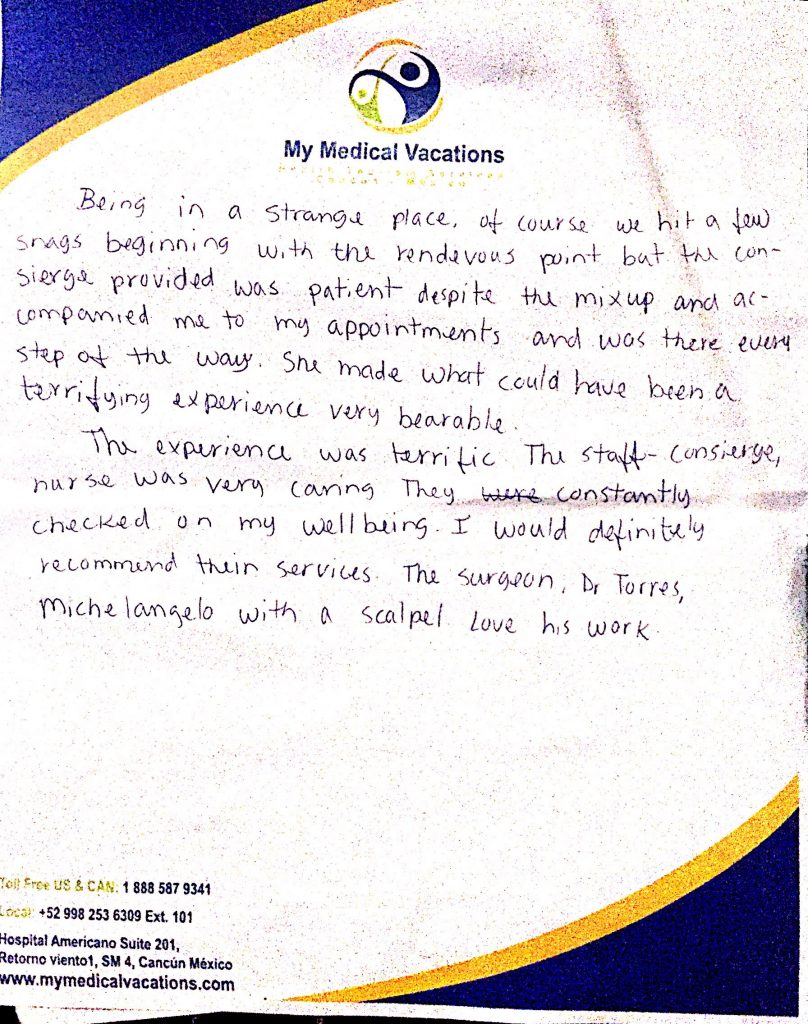 Medical Vacations Tourism Mexico Cancun BREAST REDUCTION TESTIMONIAL FROM CALIFORNIA, USA 1