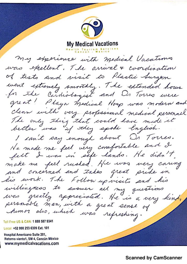 Medical Vacations Tourism Mexico Cancun Facelift Testimonial from Arizona, USA 1