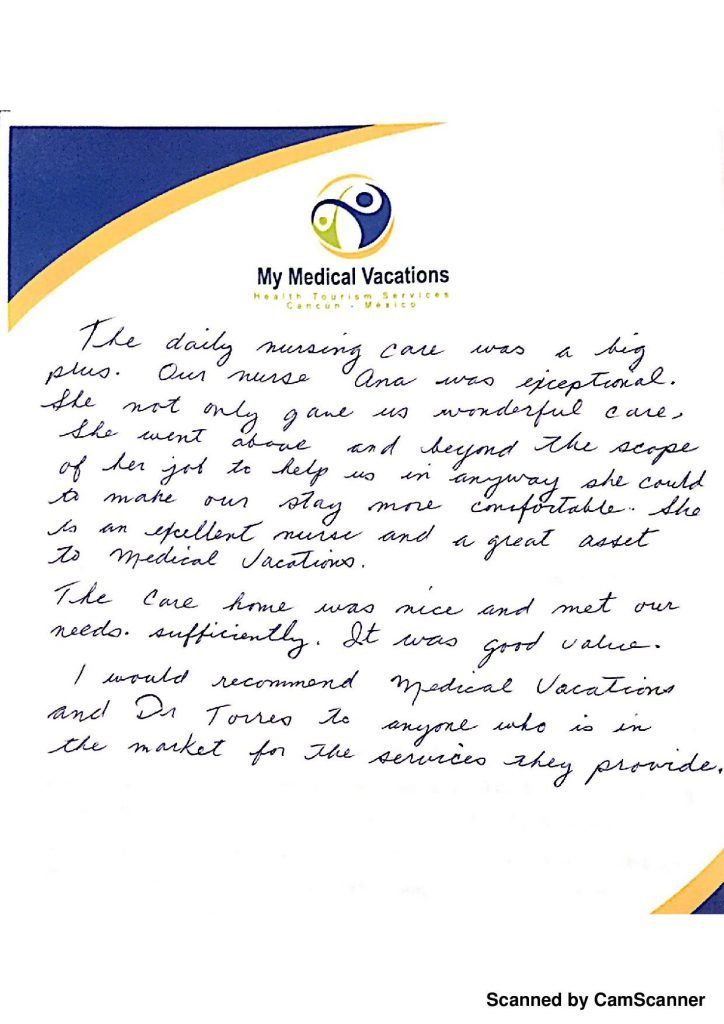 Medical Vacations Tourism Mexico Cancun Facelift Testimonial from Arizona, USA 3